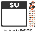 sunday calendar page icon with... | Shutterstock .eps vector #574756789