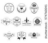 wine label vineyard badge logo... | Shutterstock .eps vector #574760041