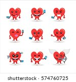 happy valentines day set of... | Shutterstock .eps vector #574760725