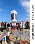 Small photo of MECCA, SAUDI ARABIA - FEBRUARY 8: Muslims at Mount Arafat (or Jabal Rahmah), February 8, 2017 in Arafat, Saudi Arabia. This is the place where Adam and Eve met after being overthrown from heaven.