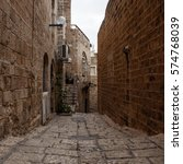 stone old city jaffa in tel aviv | Shutterstock . vector #574768039