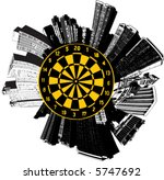 a circular city with a target... | Shutterstock .eps vector #5747692