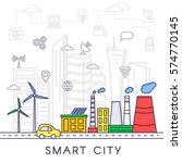smart city vector concept.... | Shutterstock .eps vector #574770145