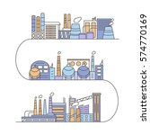 set of industrial plants in... | Shutterstock .eps vector #574770169