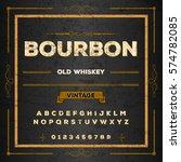 bourbon font handwritten...   Shutterstock .eps vector #574782085