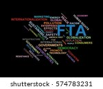 fta   word cloud wordcloud  ... | Shutterstock . vector #574783231