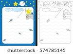 preschool worksheet for... | Shutterstock .eps vector #574785145