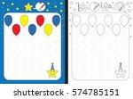preschool worksheet for... | Shutterstock .eps vector #574785151