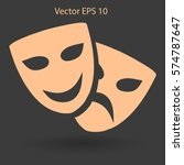 theatrical masks laughter and... | Shutterstock .eps vector #574787647