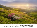 Spring Landscape In Mountains...
