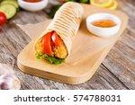 chicken strips in tortilla wrap ...