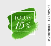 sale today 15  off sign over... | Shutterstock .eps vector #574789144