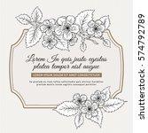 vintage botanical card with...   Shutterstock .eps vector #574792789