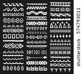 collection of hand drawn... | Shutterstock .eps vector #574793011