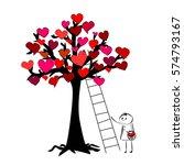 tree of hearts   Shutterstock .eps vector #574793167