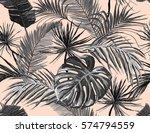 beautiful seamless vector... | Shutterstock .eps vector #574794559