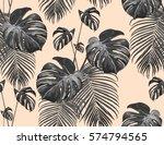 beautiful seamless vector... | Shutterstock .eps vector #574794565