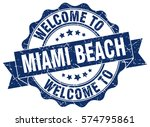 miami beach. welcome to miami... | Shutterstock .eps vector #574795861