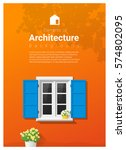 elements of architecture  ... | Shutterstock .eps vector #574802095