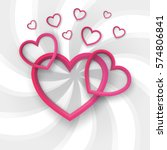 paper hearts valentines day.... | Shutterstock .eps vector #574806841