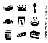 set of 9 fastfood filled icons... | Shutterstock .eps vector #574808461
