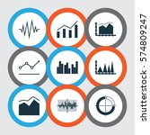 set of graphs  diagrams and... | Shutterstock .eps vector #574809247