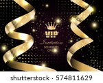 vip invitation members only ... | Shutterstock .eps vector #574811629