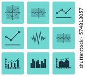 set of graphs  diagrams and... | Shutterstock .eps vector #574813057
