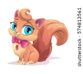little cute cartoon fluffy... | Shutterstock .eps vector #574813561