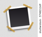 photo frame with shadow on... | Shutterstock .eps vector #574821169