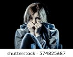 lonely young teenager girl in... | Shutterstock . vector #574825687