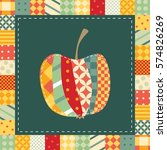 patchwork pattern. applique of... | Shutterstock .eps vector #574826269