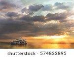 colorful sunset on vietnamese... | Shutterstock . vector #574833895