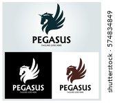 Pegasus Logo Design Template....