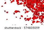 valentines day background.... | Shutterstock . vector #574835059