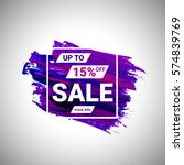sale up to 15  off banner sign... | Shutterstock .eps vector #574839769
