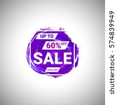 sale up to 60  off banner sign... | Shutterstock .eps vector #574839949