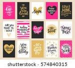 hand drawn valentines day... | Shutterstock . vector #574840315