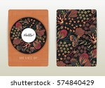 cover design with floral...   Shutterstock .eps vector #574840429