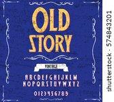 script  font  vintage old story ...   Shutterstock .eps vector #574843201