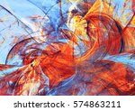 Red And Blue Artistic Wave....