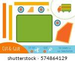 education paper game for... | Shutterstock .eps vector #574864129