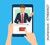 online learning. e learning... | Shutterstock .eps vector #574865827