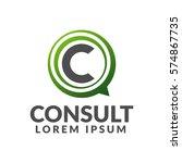 consulting agency logo....   Shutterstock .eps vector #574867735