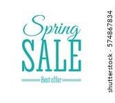 spring sale lettering design... | Shutterstock .eps vector #574867834