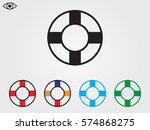 lifebuoy  icon  vector...   Shutterstock .eps vector #574868275