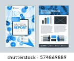 annual report cover design... | Shutterstock .eps vector #574869889