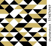 Black  White And Gold Triangle...