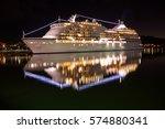 Large Luxury Cruise Ship On Se...