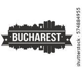 bucharest skyline stamp... | Shutterstock .eps vector #574884955